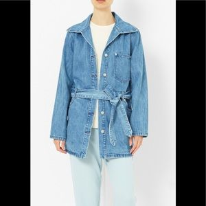 Opening Ceremony Denim Belted Coat
